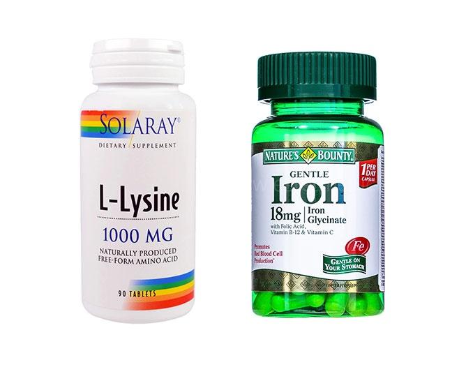 Лизин и Железо витамины для волос